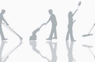 cleaners in silhouette