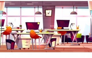 Clean modern office