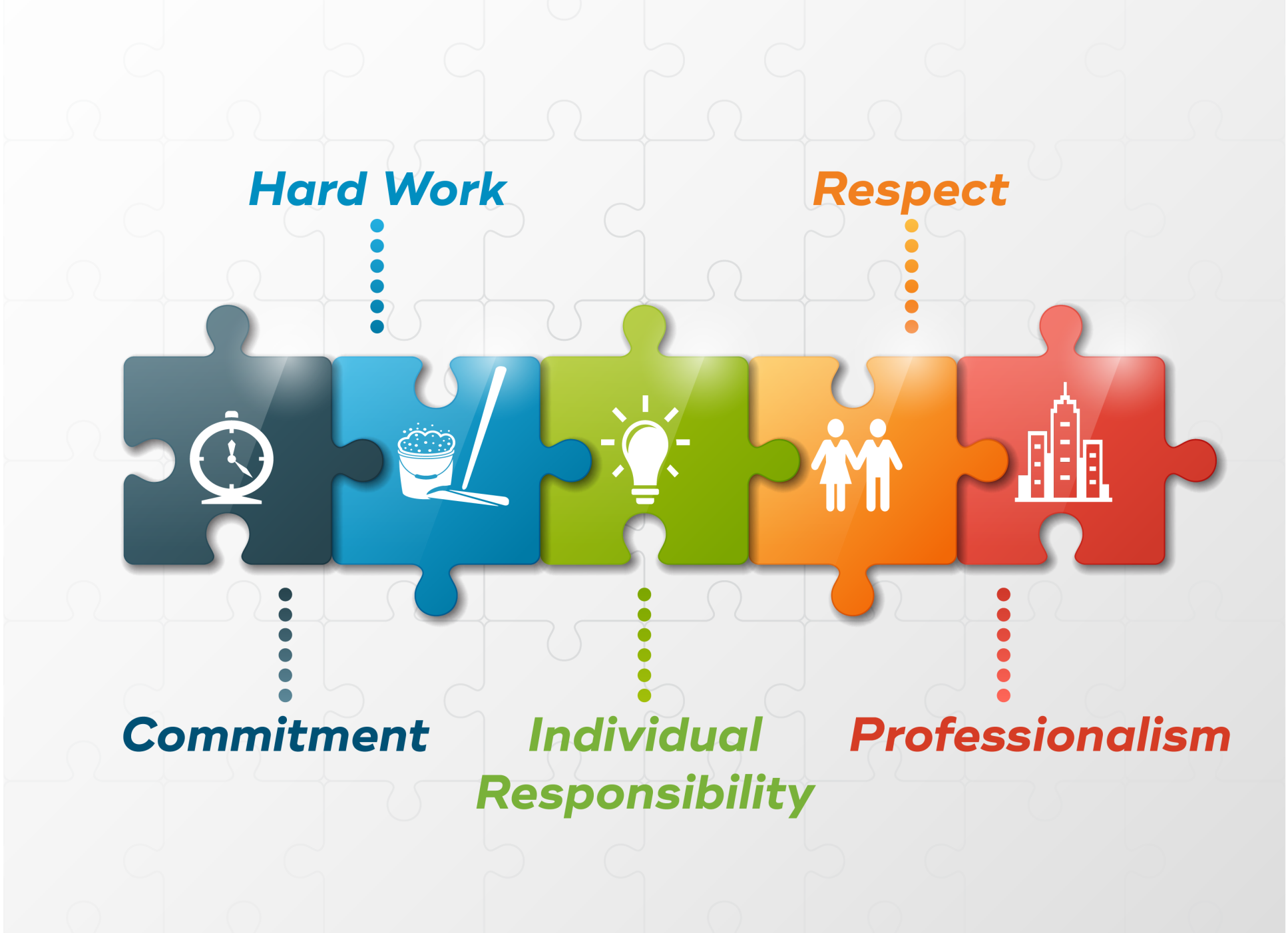 Populist Cleaning Co. Core Values infographic
