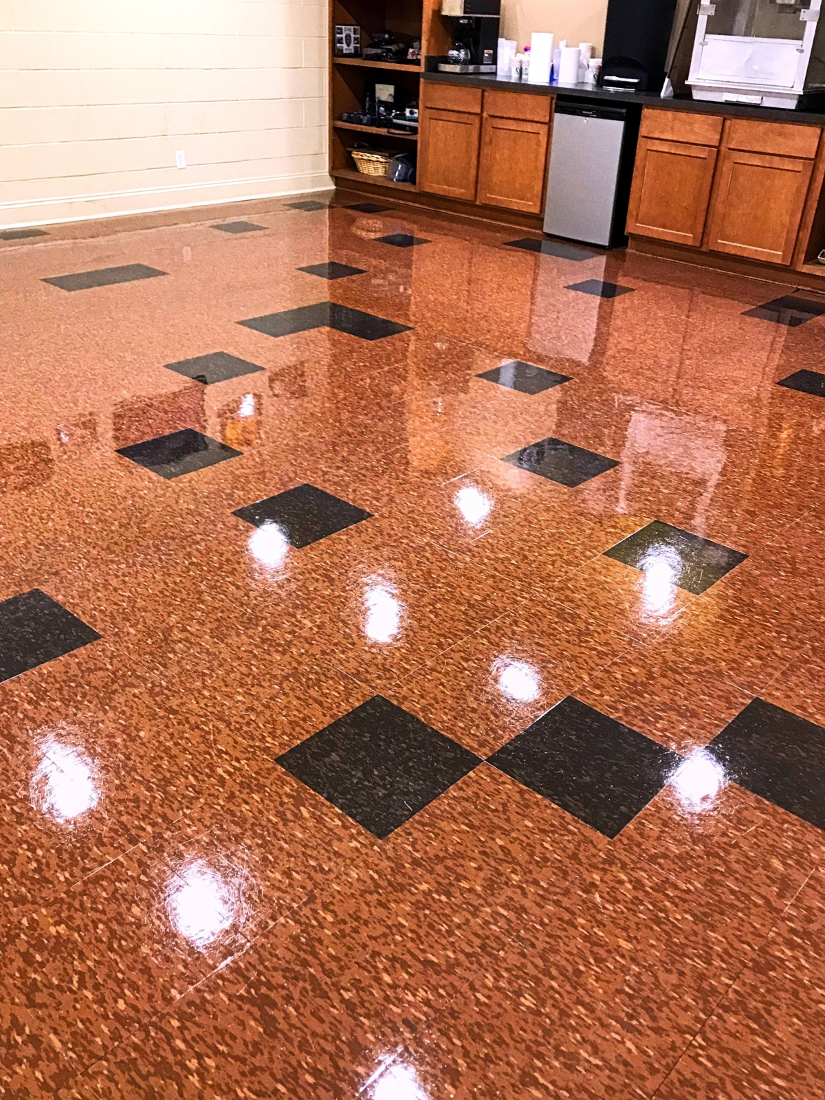 shiny floor done by Populist Special Projects Team