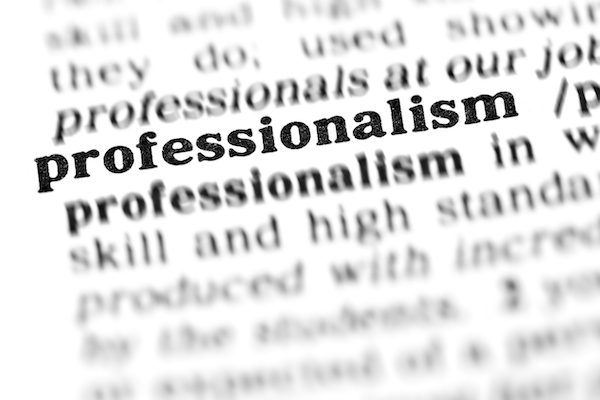 Dictionary entry on Professionalism