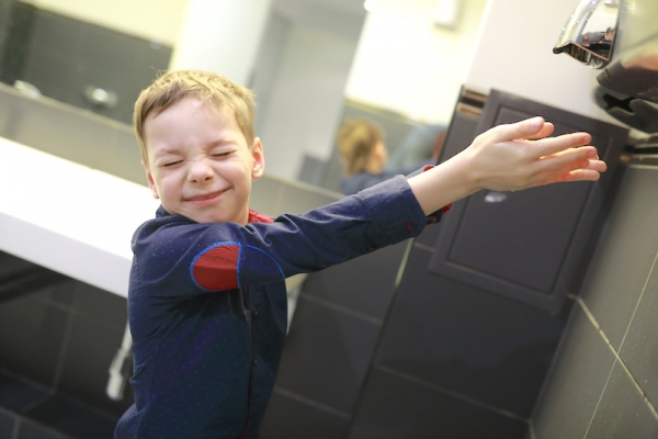 hand dryers can be too loud for kids