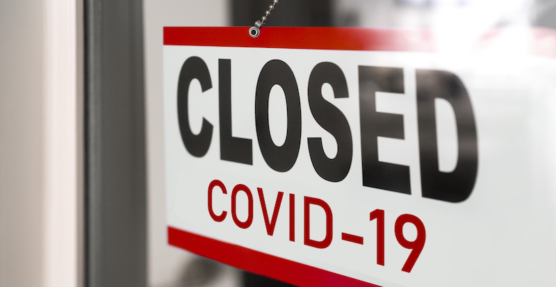 Closed Sign for Business due to COVID-19