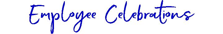 Employee Celebrations lettering