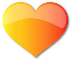 Populist Orange Heart